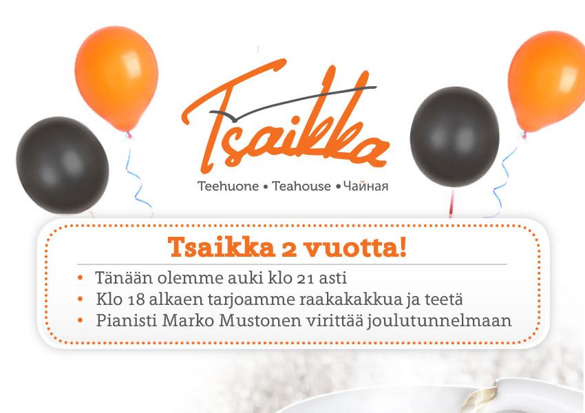 Tsaikka 2 vuotta! 20.11.2015